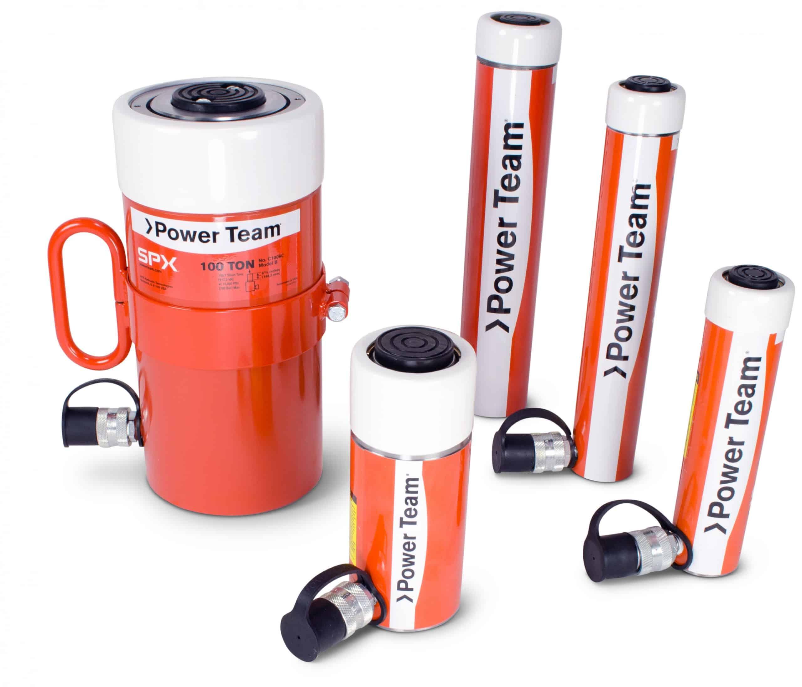 C -sylinterit 700 barin Power Team sylinteri on kokoonsa nähden erittäin tehokas.