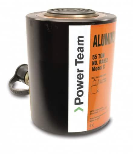 Power Team alumiiniset RA -sylinterit ovat tehoonsa ja kokoonsa nähden kevyitä
