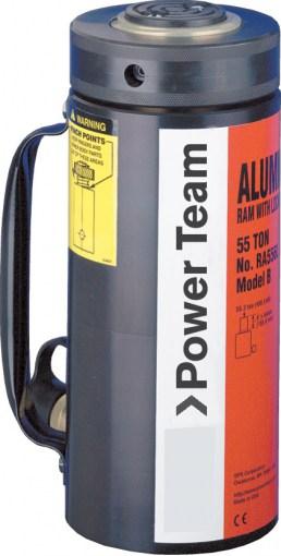 RA_L sylinterit Power Team sylinteri, joka on varustettu lukkokauliksella pitää taakan turvallisesti ylhäällä